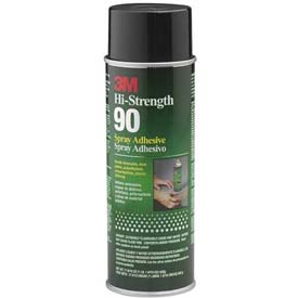 3m Hi-Strength 90 Spray Adhesive Clear Package Count 12 by