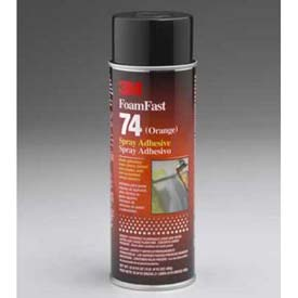3m Foam Fast 74 Spray Adhesive Orange Package Count 12 by