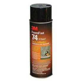 3m Foam Fast 74 Spray Adhesive Clear Package Count 12 by