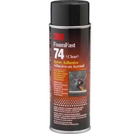 3m Foam Fast 74 Spray Adhesive Clear, 24 Fl Oz Aerosol Package Count 12 by