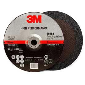 """3M HP. Depressed Center Grinding Wheel QC. 66552 9""""x 1/4""""x 5/8-11"""" T27 Alum. Oxide 24 Grit by"""