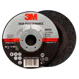 """3M Depressed Center Grinding Wheel 66553 4-1/2""""x 1/4""""x 5/8-11"""" T27 Aluminum Oxide 24 Grit by"""