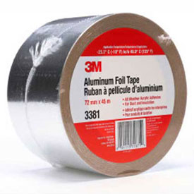 "3M Aluminum Foil Tape 3381 Silver, 2-13/16"" x 150', 2.7 Mil Package Count 16 by"
