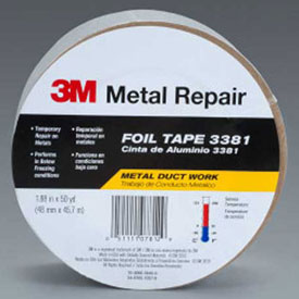 "3M Aluminum Foil Tape 3381 Silver, 1-7/8"" x 150', 2.7 Mil Package Count 12 by"