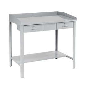 "48""W x 30""D Extra-Wide Shop Desk - Gray"