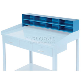 "8 Pigeon Hole Riser for 48""W Shop Desk - Blue"