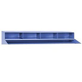"4 Pigeon Hole Riser for 48""W Shop Desk- Blue"