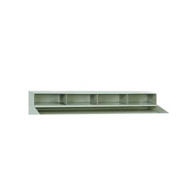 "4 Pigeon Hole Riser for 48""W Shop Desk- Putty"