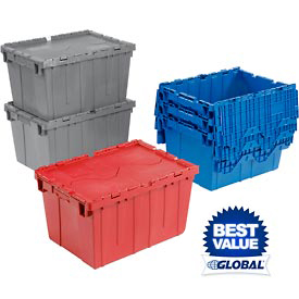 Premium Attached Lid Distribution Containers
