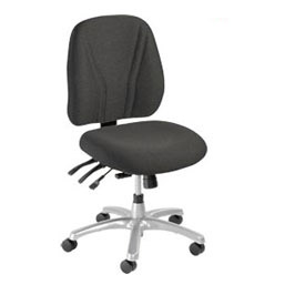 Interion™ - Ergonomic 8 Way Adjustable Fabric Upholstered Chair - Choice Of Optional Armrests