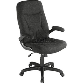 Interion® - Executive Fabric Chair With Fold-Away Armrests