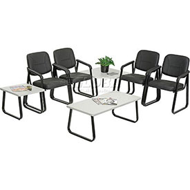 Interion® - Reception Chairs -- Choice Of Leather Or Fabric Upholstery