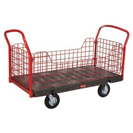 Rubbermaid® Side Panel Plastic Platform Trucks