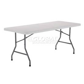 Interion® Plastic Folding Table