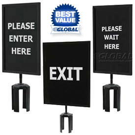 Signs & Sign Holders For Crowd Control Posts
