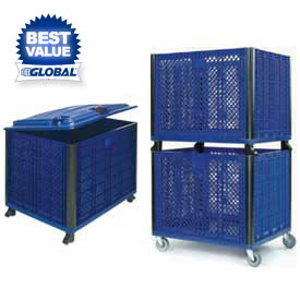 Collapsible Bulk Containers - Solid Or Vented Sides