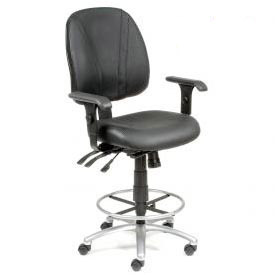 Interion™ - Leather Stools - Manager Synchro Mechanism