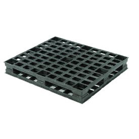 Double-Sided Rackable Plastic Pallet Static Capacity 25000 Lbs.