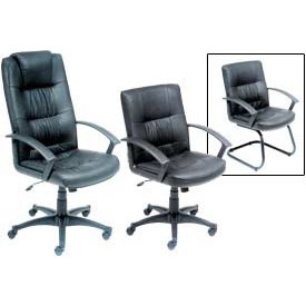 Interion® Coordinated Executive Leather Chairs
