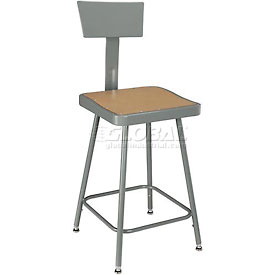 Interion® - Square Seat Shop Stools
