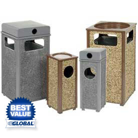 Global™ Stone Panel Ash Trash Receptacles