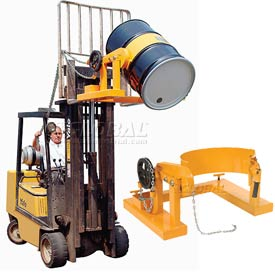 Forklift Mount Tilting Drum Rings & Dumpers