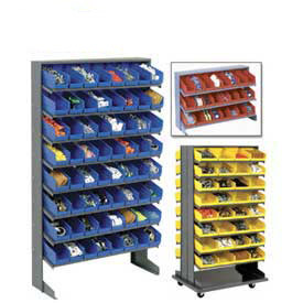 Pick Rack With Akro-Mils Shelf Bins