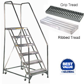 Lightweight - No Rust Rolling Aluminum Ladders