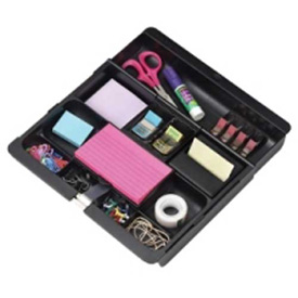 "3M Desk Drawer Organizer 12"" x 10-11/16"" Black by"