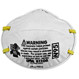 3M N95 Particulate Respirators 8110S, 20/Box by