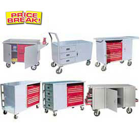 Mobile Heavy Duty All Welded Service Bench