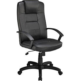 Interion® High Back Executive Chair With Breathable Leather