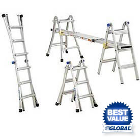 Werner® Telescoping Extension Multiladder - Telescoping Ladder - Folding Ladder