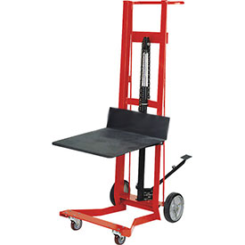 Wesco® Foot Pedal Platform Lift Truck 260008 Four Wheel Style 750 Lb. Cap.