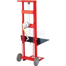 Wesco® Winch Operated Platform Lift Truck 260016 2 Wheel Style 750 Lb. Cap.