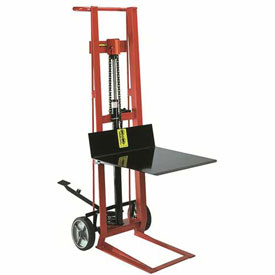 Wesco® Foot Pedal Platform Lift Truck 260003 Two Wheel Style 750 Lb. Cap.