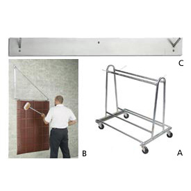 Mat Wash Cart & Wall Racks
