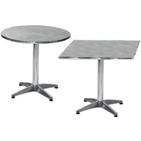 Premier Hospitality Furniture   Stainless Steel Bistro Tables