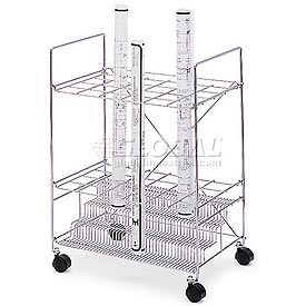 Safco® - Mobile Blueprint Storage Rack With Chrome Finish