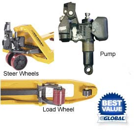 Replacement Parts for Global Industrial™ Best Value Pallet Jack Trucks