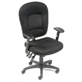 Multifunction Office Chair - Breathable Mesh Fabric - Black