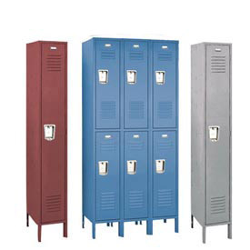 Penco 68131R-028-SU Vanguard Locker Recessed Double Tier 12x15x36 2 Door Assembled Gray