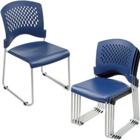 Interion® - Ventilated Plastic Stackable Chair