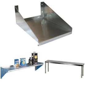 "Click here to buy Aero Manufacturing MW-2424 24""W x 24""L Wall Mounted Microwave Shelf."