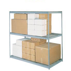 8'H Boltless Wide Span Metal Storage Rack With Wire Deck