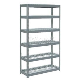5' High Boltless Steel Shelving With Wire Deck