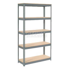 8' High Boltless Steel Shelving With Wood Deck