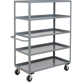Jamco Heavy Duty Shelf Truck CE348 5 Shelves 48x30 3000 Lb. Capacity