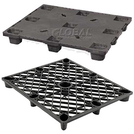 Nestable Light Duty Plastic Pallets 48x40