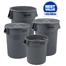 Global Industrial™ Best Value Trash Containers